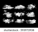 clouds on black background | Shutterstock . vector #593973938