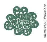happy saint patrick's day... | Shutterstock .eps vector #593981672