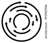 circular concentric arrows.... | Shutterstock .eps vector #593985986