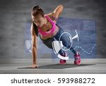 heart rate monitor concept.... | Shutterstock . vector #593988272