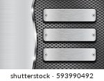 metal background with... | Shutterstock .eps vector #593990492