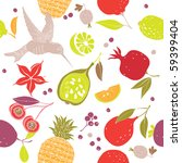 fruit seamless pattern | Shutterstock .eps vector #59399404