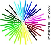 color pencils in a star shape   Shutterstock .eps vector #59400079