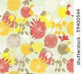autumn flower seamless... | Shutterstock .eps vector #59400544