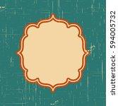 vector vintage border frame... | Shutterstock .eps vector #594005732