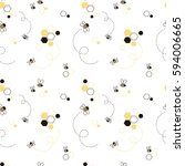 honey bee seamless pattern ... | Shutterstock .eps vector #594006665