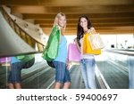beautiful teenage girls on... | Shutterstock . vector #59400697