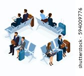 trendy people isometric vector... | Shutterstock .eps vector #594009776