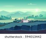 gold mining vintage... | Shutterstock .eps vector #594013442