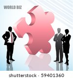 illustration of business people ... | Shutterstock .eps vector #59401360