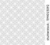 art deco seamless background. | Shutterstock .eps vector #594015092