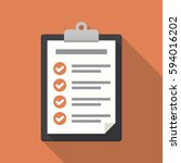 clipboard with checklist icon.... | Shutterstock .eps vector #594016202