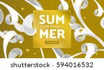 summer fashion market offer.... | Shutterstock .eps vector #594016532