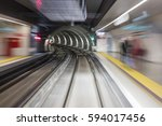 Blurred Motion Subway Moving...