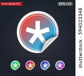 colored icon or button of... | Shutterstock .eps vector #594023348
