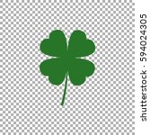 four leaf clover icon | Shutterstock .eps vector #594024305