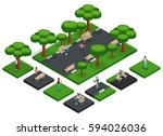 isometric vector fashion people ... | Shutterstock .eps vector #594026036