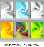 Set Of Abstract Swirl...