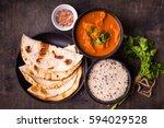 hot spicy chicken tikka masala... | Shutterstock . vector #594029528