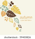autumn falling leaves background | Shutterstock .eps vector #59403826