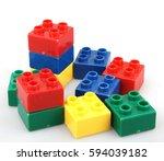 plastic building blocks... | Shutterstock . vector #594039182