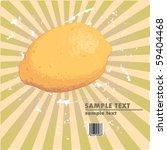 vintage lemon on the radial...   Shutterstock .eps vector #59404468