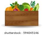 healthy freshly harvested... | Shutterstock . vector #594045146
