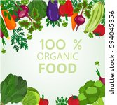 eco food menu background. fresh ... | Shutterstock . vector #594045356