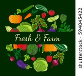 healthy vegetables and... | Shutterstock . vector #594045422