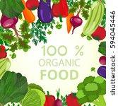 eco food menu background. fresh ... | Shutterstock . vector #594045446