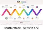 timeline infographics design... | Shutterstock .eps vector #594045572