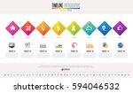 timeline infographics design... | Shutterstock .eps vector #594046532