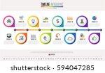 timeline infographics design... | Shutterstock .eps vector #594047285