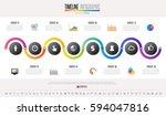 timeline infographics design... | Shutterstock .eps vector #594047816