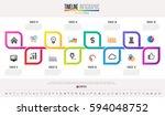 timeline infographics design... | Shutterstock .eps vector #594048752