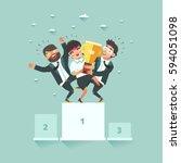 successful business teamwork... | Shutterstock .eps vector #594051098