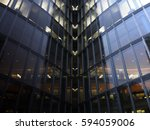 hi tech architecture. glass... | Shutterstock . vector #594059006