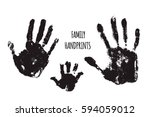 family handprints vector... | Shutterstock .eps vector #594059012