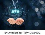 world wide web  www    internet ... | Shutterstock . vector #594068402
