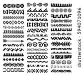 collection of hand drawn... | Shutterstock .eps vector #594071096