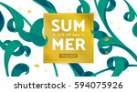 summer fashion market offer.... | Shutterstock .eps vector #594075926