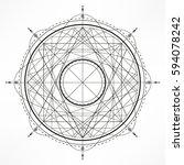 universe.solar system. sacred... | Shutterstock .eps vector #594078242