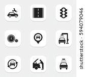 set of 9 editable traffic icons....