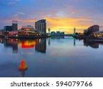 media city  manchester. uk. | Shutterstock . vector #594079766