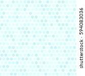 cyan flower pattern. seamless... | Shutterstock .eps vector #594083036