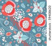 seamless floral pattern | Shutterstock .eps vector #59408620