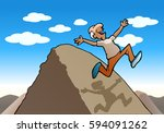 illustration of a successful... | Shutterstock .eps vector #594091262