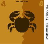 crab vector  icon. coffee...