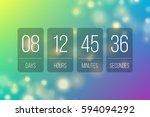 countdown web site vector flat... | Shutterstock .eps vector #594094292