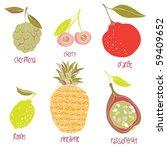 fruits vector set | Shutterstock .eps vector #59409652